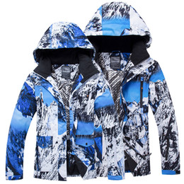 snow clothing jacket Australia - 2019 Winter Snow Jacket Women Hooded Warm Sport Snowboard Jacket Men Waterproof Clothes Cotton Outdoor Female Skiing Coats