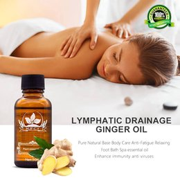 Wholesale Pure Natural Lymphatic Drainage Organic Ginger Essential Oils, benefits For Body Massage Skin Care Relax Fragrance Oil 30mL
