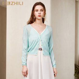 $enCountryForm.capitalKeyWord Australia - ZHILI Spring and Summer 2019 Sweet Comfortable Long Sleeve Cropped Cardigan (S-4XL)