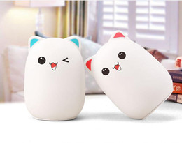 cute animal lamps UK - 2S Colorful Silicone Soft USB Rechargeable Animal Night Light Cute Cat Table Lamp Adults Children Baby Bedroom LED Light Nursery Night Lamp