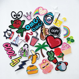 $enCountryForm.capitalKeyWord Australia - 16pcs Random Mixed Letter Bird Letter Sew on Iron on Embroidered Patches for Clothes Cheap Stickers Clothes Fabric Badge P008