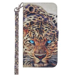 Leopard Flip Wallet Australia - Leather Flip phone case for Samsung Galaxy S7 S8 S9plus J3 J4 J5 J6 J7 J8 A3 A5 A6 2017 2018 J330 J530 J730 Painted leopard with card slot