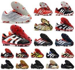 venda por atacado Hot Classics Predator Accelerator Eletricidade Precision MANIA FG Beckham DB Zidane ZZ 1998 homens sapatos botas de futebol chuteiras de futebol Tamanho 39-45