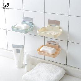 $enCountryForm.capitalKeyWord Australia - wholesale bathroom soap holder magic seamless paste wall suction drain kitchen sponge rack soap storage box home