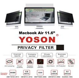 Laptop Filter Australia - Macbook Air 11.6inch Privacy Filter Screens Protective Film Anti Peep Film 25.64*14.48cm