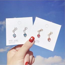 $enCountryForm.capitalKeyWord Australia - Exquisite design Earring Golden bow tassels heart diamond High quality made fashion luxury direct deal PE-0021