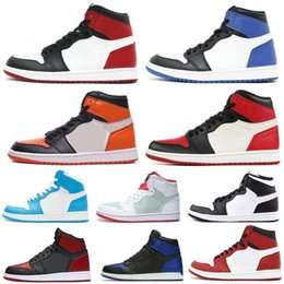 Ring Box Green Australia - With Box High Quality High OG 1 Track Red Blue Moon Yellow Ochre Clay Green Basketball Shoes Men 1s Six Championships 6 Rings Sneakers