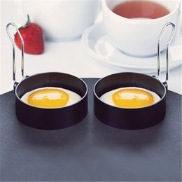 pan fried eggs NZ - 2PCS Stainless Steel Omelette Fried Egg Mold Round Shaper Eggs Mould for Cooking Breakfast Frying Pan Oven Kitchen