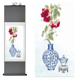 $enCountryForm.capitalKeyWord Canada - Flower Painting Home Office Decoration Chinese Scroll Flower Art Painting Chinese Paintingprinted Painting
