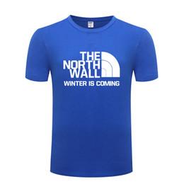 cb62b5c0a Game of Thrones THE NORTH WALL Men T Shirt T Shirts Men Cotton Short Sleeve  Tshirt Streetwear Tee Shirt Fashion Summer T-Shirt