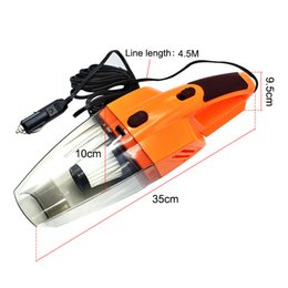 12v led lights connector online shopping - 12V Car Vacuum Cleaner W Portable Handheld Wet and Dry Dual Use Meters Connector Cable with LED Light Multi Dust Collecto