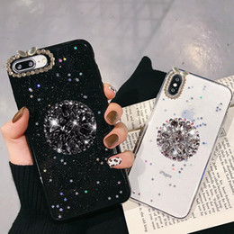 $enCountryForm.capitalKeyWord NZ - For iPhone 7 8 Case Luxury Glitter Diamond Cover For iPhone X XS Max XR 6 7 8 Plus Rhinestone 3D Grip Stand Holder Phone Cases