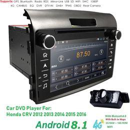 Honda Crv Gps Dvd Australia - Android 8.1 HD 1024*600 Car DVD Player Radio For Honda CRV 2012 2013 2014 2015 2016 4G WIFI GPS Navigation Head Unit 2 din 2GRAM