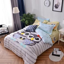 $enCountryForm.capitalKeyWord Australia - 100% Cotton Kids Adult Queen Owl Family Bedding Set Single Size Cartoon Animal Bed Linen Sheet Pillowcase Duvet Cover29
