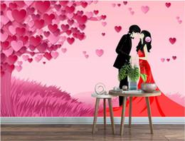 Art Love Wallpaper Australia - 3d room wallpaper custom photo mural Love tree fashion romantic couple 3D background wall wall wall art canvas wallpaper for walls 3 d