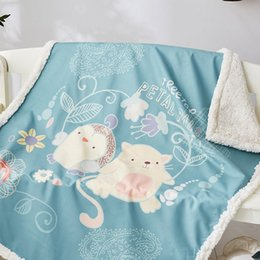 $enCountryForm.capitalKeyWord Australia - Cilected Cartoon Lamb Velvet Blanket Summer Children Adult Nap Air Conditioning Blanket Outdoor Sheets Double Warm