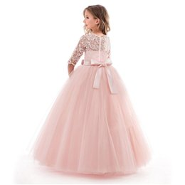 2363b324a Flower Girl Dress Red Petals Kids Gown Flower Girl Dresses for Princess  Wedding Girl's Floor Length Child Party Birthday Dress