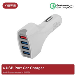Android Car Pc Gps Australia - QC3.0 4 Port USB Ports Fast Car Charger Adapter Universal 3.1A Outputs For Iphone 7 8 X Samsung S6 S7 S8 PC Android Phone gps