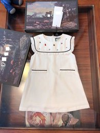 Product Brand Color Australia - The G* Girls Beaded Sleeveless White Dresses Fashion Children Clothes 3-10Y Girls Vest Dresses Special Products