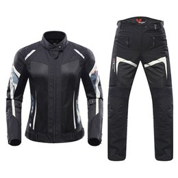 $enCountryForm.capitalKeyWord Australia - Women Motorcycle Jacket Breathable Motorcycle Clothing Summer Women Moto Jacket And Motorcycle Pants Racing Clothes Suit
