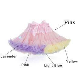 Skirt girl dancing online shopping - Pink fluffy chiffon pettiskirt girls tutu skirt princess Skirt dance costume party clothing Women Jupes Lolita petticoat