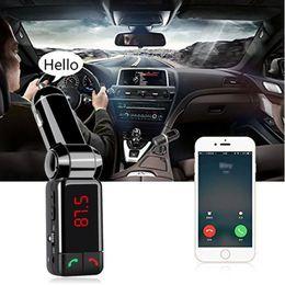 $enCountryForm.capitalKeyWord Australia - 1PCS Bluetooth Car Kit BC06 Wireless Car Charger MP3 FM Transmitter BT Hands Free Dual USB Port Charger For Moblie Phone