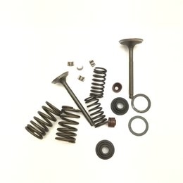 ValVe springs online shopping - New Spring Assembly Cylinder Head CH250 Valve Set W Spring And Clips CC
