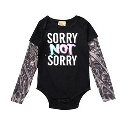 tattoo jumpsuit UK - Fashion Infant Baby Boys Romper Long Sleeve Tattoo Letter Print Rock Children Boy Baby Clothing Romper Jumpsuit Cotton Outfit