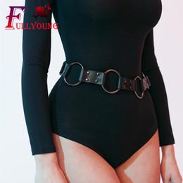$enCountryForm.capitalKeyWord Australia - Fullyoung Fashion Waist Belts High Quality Femdom Leather Garter Gothic Punk Belt Sexy Erotic Body Bondage Prom Dress Accessorie