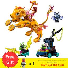 $enCountryForm.capitalKeyWord Australia - Azari & The Fire Lion Capture With Animal Figures 403pcs Building Blocks Toys For Girls Children Gifts Fit Elves 41192 MX190730