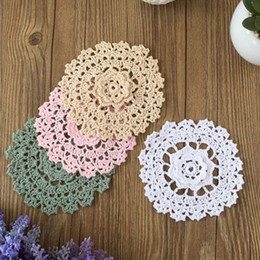 $enCountryForm.capitalKeyWord Australia - Lot of 12 pcs ~ Tridimensional floral crochet pattern doily round, handmade coasters centerpieces for home decor, Nice part for dreamcatcher