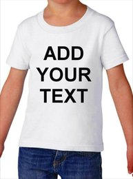Toddler fashion Tees online shopping - Toddler Custom Text Shirt Funny T Shirt Boys Girls Tee Customized Personalized