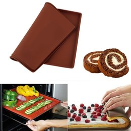 $enCountryForm.capitalKeyWord Australia - New Silicone Bakeware Baking Dishes Pastry Bakeware Baking Tray Oven Rolling Kitchen Bakeware Mat Sheet SY0190