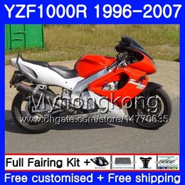 White abs thunderace online shopping - Body For YAMAHA YZF1000R Red white hot Thunderace HM YZF R YZF R Fairing kit