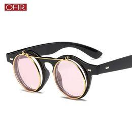 88bfd3108d Double Flip Sunglasses Australia - 2018 New Flip Sunglasses Personality  Fashion Retro Trend Glasses Punk Double