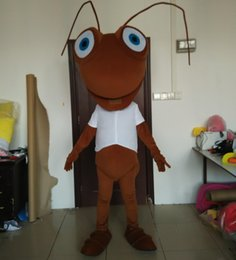 Wholesale ants costumes online – ideas Good vision and good Ventilation coffee colour ant mascot costume for adult to wear for sale
