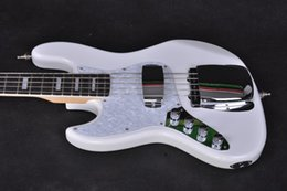 China Rosewood Guitar UK - Electric Guitar   anmiyue white left-handed exquisite high quality bass   China Electric Bass