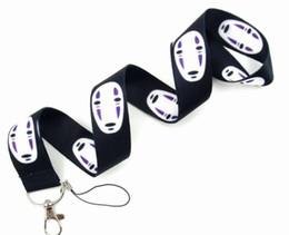 $enCountryForm.capitalKeyWord Australia - Anime Cartoon Spirited Away No Face Faceless Neck Strap Lanyards for keys Mobile Phone Strap ID Holder Rope Key Chain