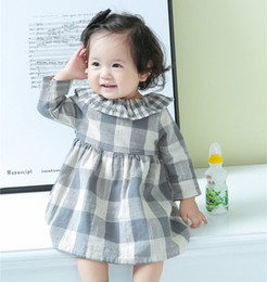 INS Kids Baby Girls Dress Casual Plaid Christmas Dress New Spring Autumn Infant Girls Clothes Vestidos Tutu Princes Dress