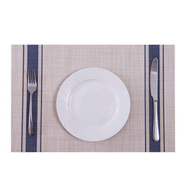 Pvc Placemats online shopping - Placemats for dining table Mesh Mat Woven Rectangular Heat Resistant Placemat insulated Wipeable Washable PVC tableware place mats pads