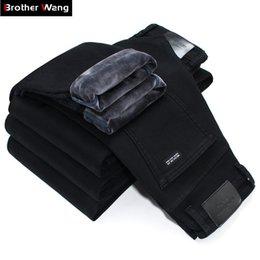 $enCountryForm.capitalKeyWord NZ - 2019 Winter New Men Warm Slim Jeans Elasticity Skinny Black Jeans Fashion Casual Thick Denim Pants Trousers Male Brand Clothes Q190415