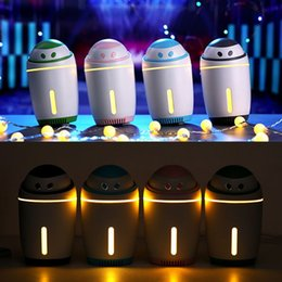 $enCountryForm.capitalKeyWord Australia - USB Cute Humidifier with 350mL Water Tank Device Facial Thermal Sprayer Skin Care Mist Humidifier Car Office With Night Light