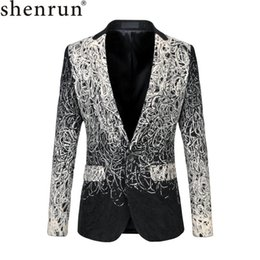 Wholesale unique men wedding suits for sale - Group buy Shenrun Men Blazer Casual Fashion Suit Jacket Unique Luxury Classic Jackets Wedding Costumes Party Prom Stage XL XL Plus Size