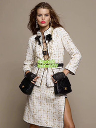 big sale 7b5ad 35d15 Straight jacket girl online shopping - Women Tweed Plaid Blazer With Bow  Coat Girls The Top