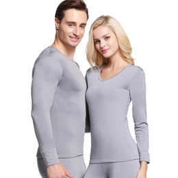 Womens Winter Warm Thermal Underwear Sets Mens Solid Casual Elastic Female Male Sleep Wear Thermal Couple New Clothing on Sale