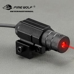 Pistol lasers sights online shopping - Tactical Red Dot Mini Red Laser Sight with Tail Switch Scope Pistol Lengthen Rat Tail Hunting Optics