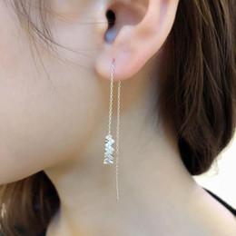131ba08b92f6 Japón y Corea del Sur 925 Estrella de plata Oreja Nail Navidad Regalo de  Año Nuevo Pendientes de cristal de Austria Marca