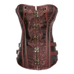 f900eec4708 Gothic Punk Corset UK - Fashion Women Sexy Punk Rock Faux Leather Steampunk Corset  Gothic Waist