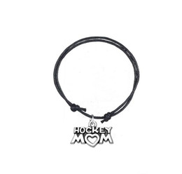 $enCountryForm.capitalKeyWord UK - GX031 Fashion Accessories Twist Bracelet Joint Antique Silver Plated Letter Hockey Mom Charm Adjustable Wax Cord Bracelet For Personalized