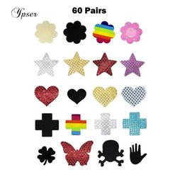 breast milk women 2020 - 60 Pairs 5Choices Sexy Women Nipple Cover Satin Pasties Milk Paste Disposable Breast Petals Sticker Summer Fashion Ypser